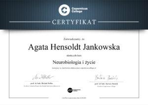 Psychoterapia certyfikat z neurobiologii
