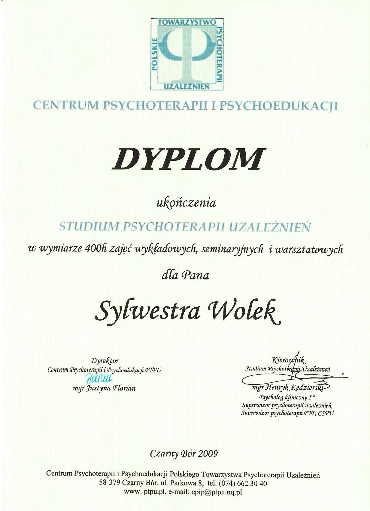 Studium Psychoterapii Uzależnień