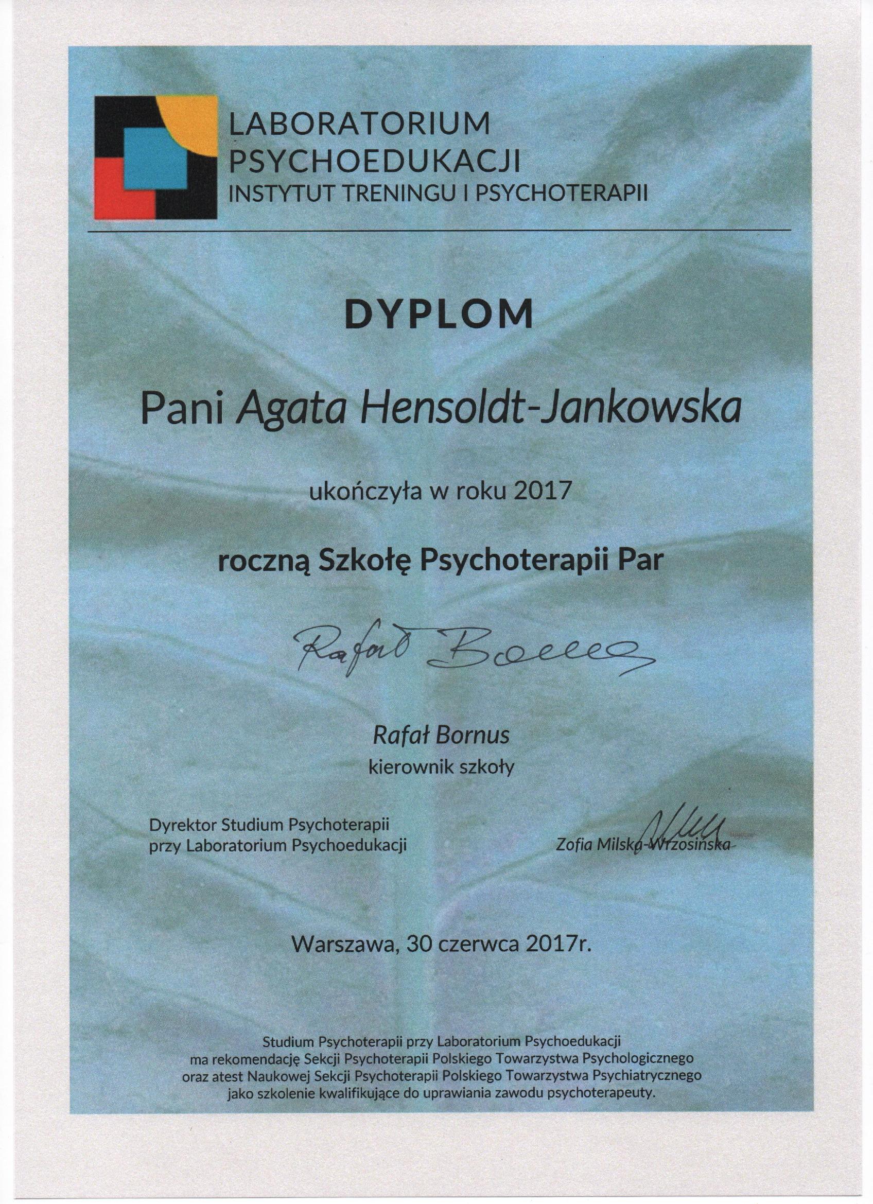 Studium Psychoterapii Par