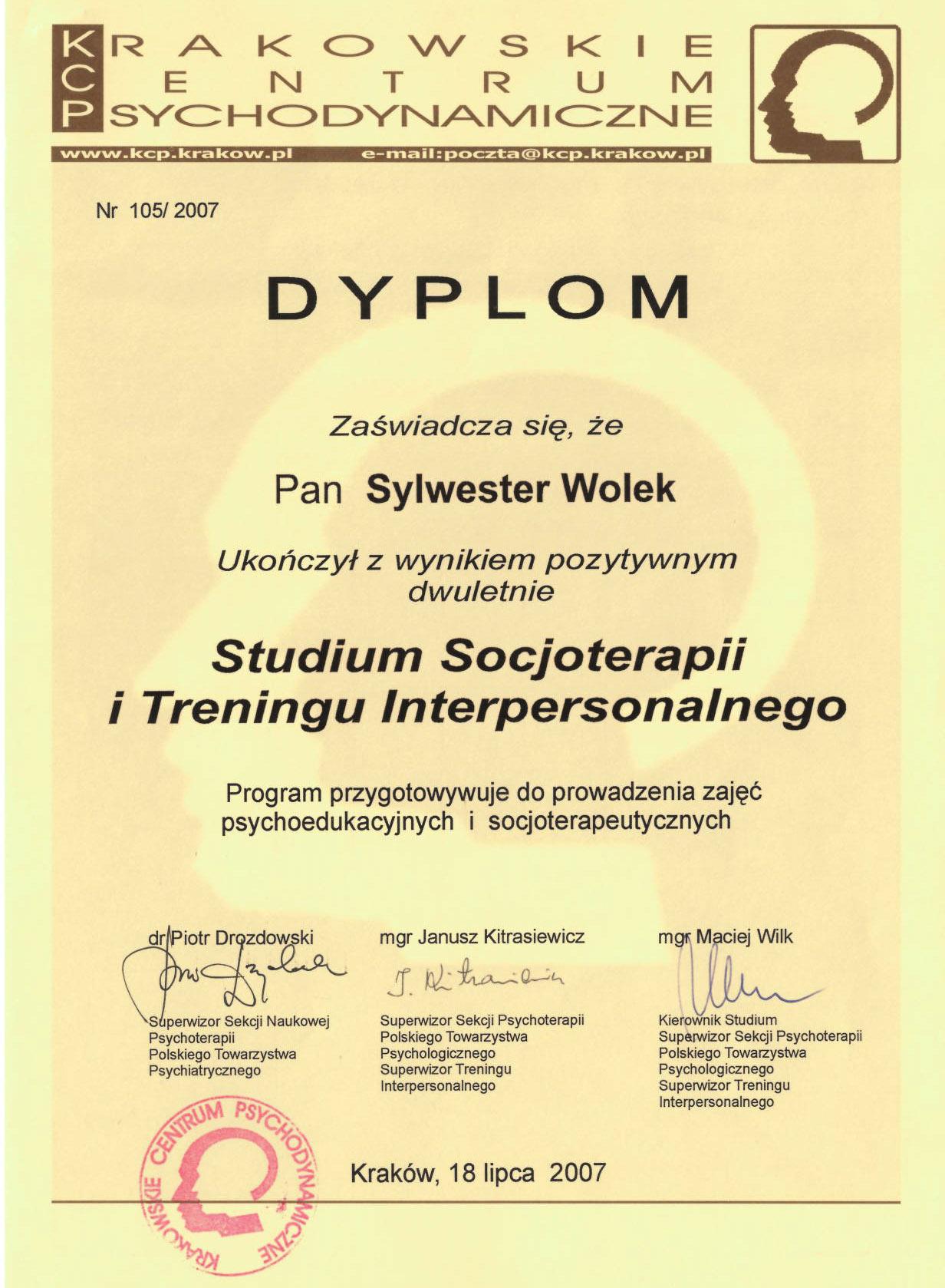 Studium Socjoterapii i Treningu Interpersonalnego