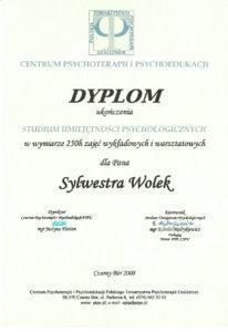 Psycholog we Wrocławiu dyplomowany