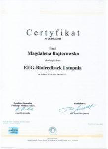Certyfikat EEG