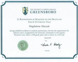 certyfikat uniwersytecki