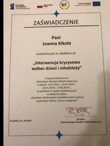 Psychoterapia dla młodzieży certyfikat