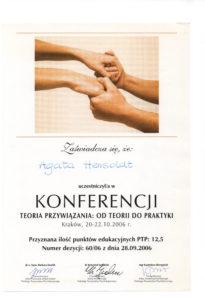 Psycholog z Wrocławia certyfikat