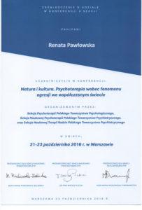 Psycholog we Wrocławiu certyfikat