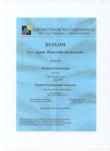 Studium psychoterapii certyfikat