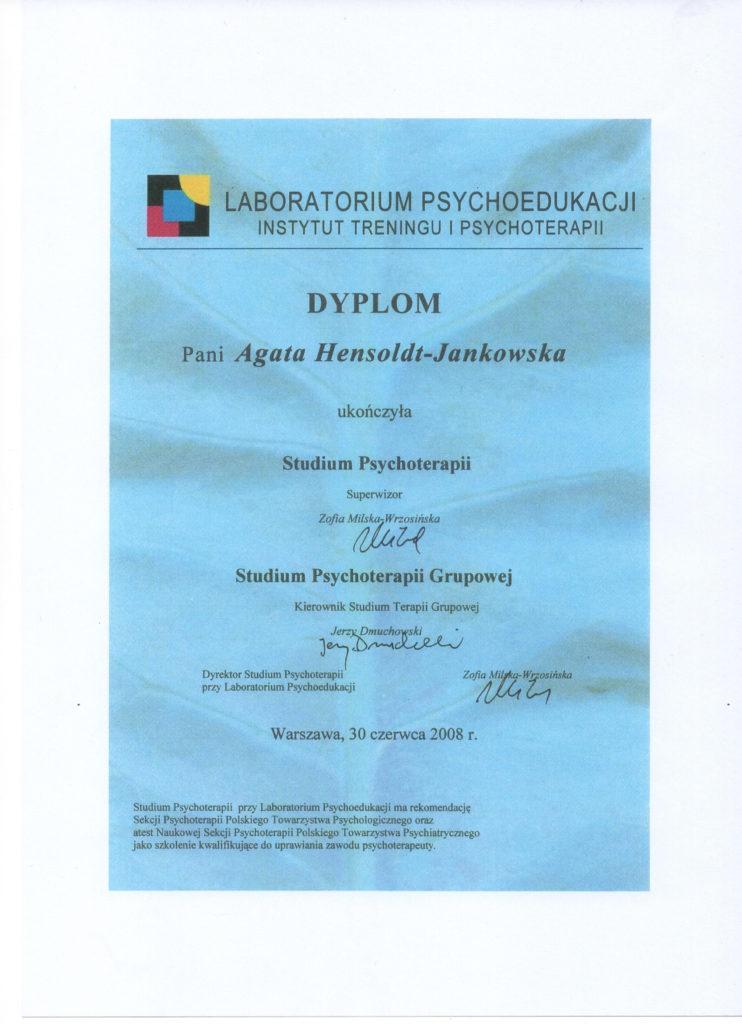 Studium Psychoterapii, Studium Psychoterapii Grupowej
