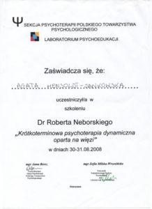 Psychologia terapia
