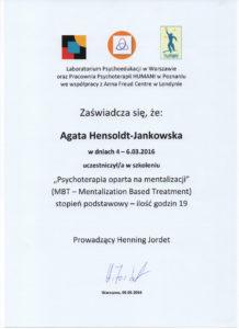 Psycholog z certyfikatem