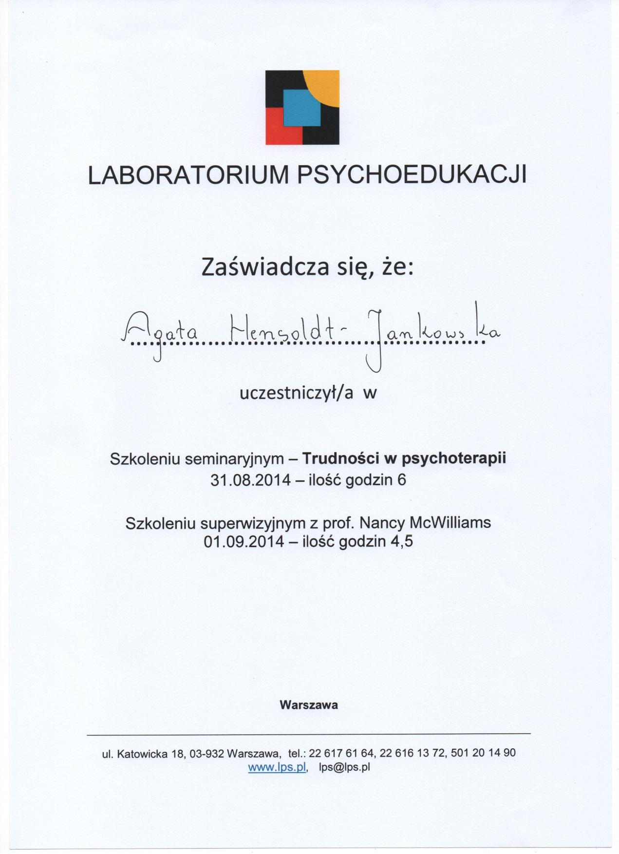 Trudności w psychoterapii