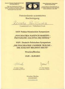 Certyfikat poświadczający