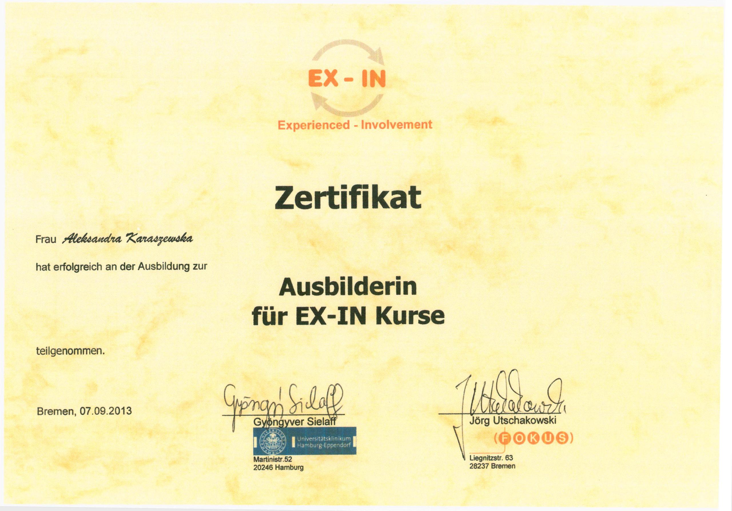 EX-IN Kurse