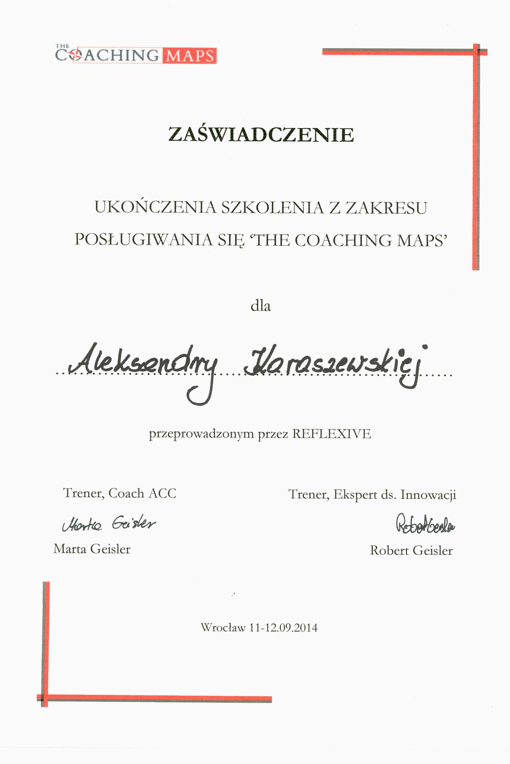 Mapy coachingowe