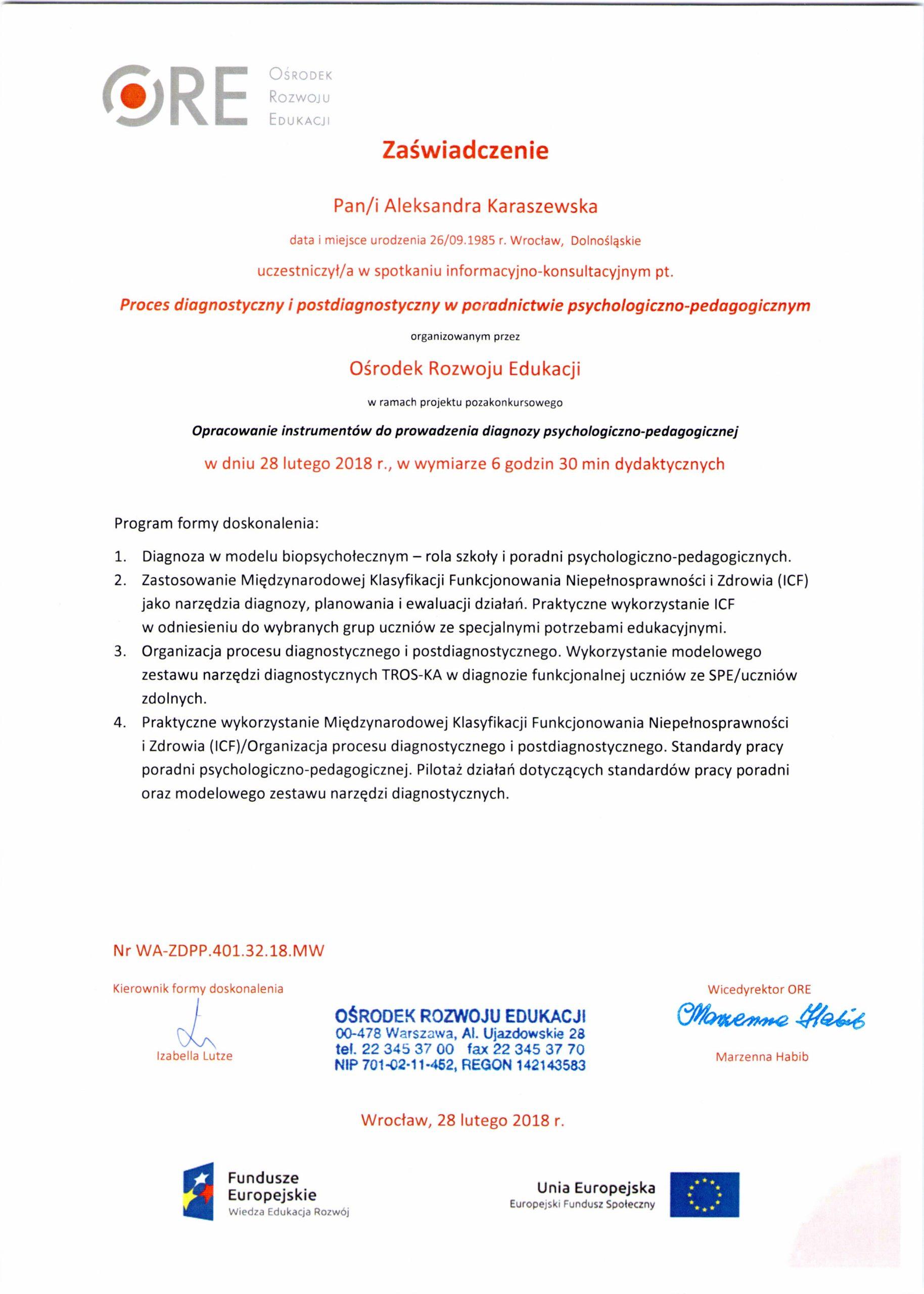 Diagnoza psychologiczno-pedagogiczna